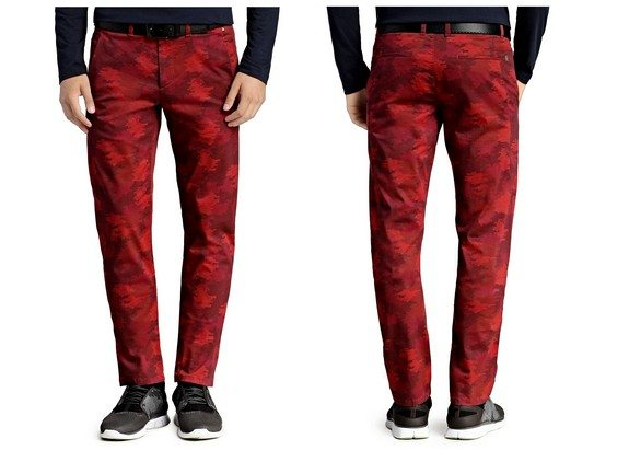 pantalon rouge camouflage boss green