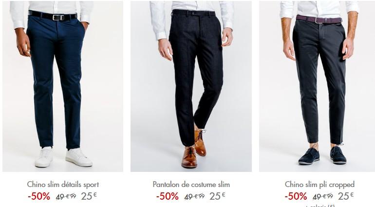 pantalons chinos jules mode-homme