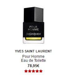 parfum YSL yves saint laurent pour homme eau de toilette sephora