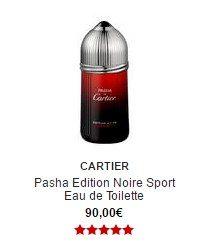 parfum cartier pasha edition noire sport eau de toilette sephora