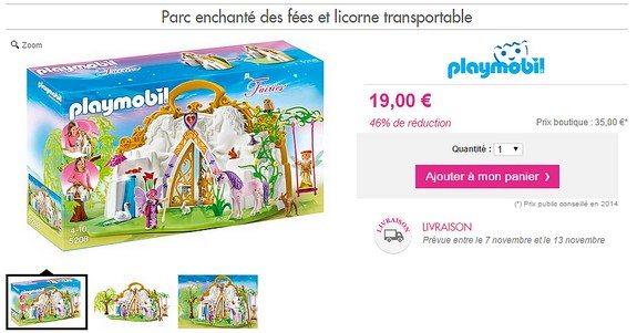 playmobil filles parc enchante des fees et licorne