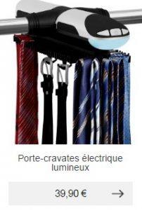 porte cravate electrique lumineux idee cadeau homme