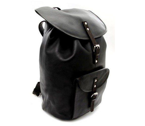 sac a dos en cuir noir sandqvist