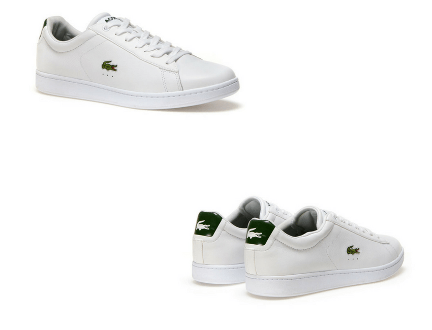 Sneakers Carnaby blanche et verte Lacoste