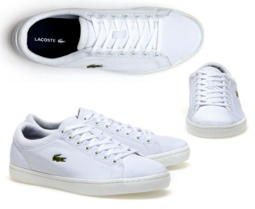 sneakers basses lacoste blanches