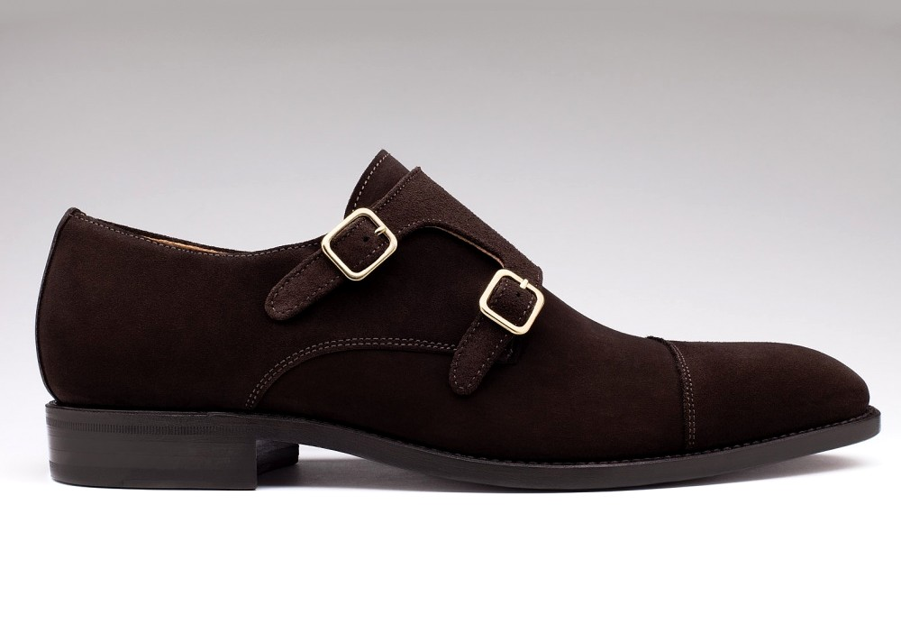 souliers-finsbury-en-soldes-cambridge-veau-velours-marron