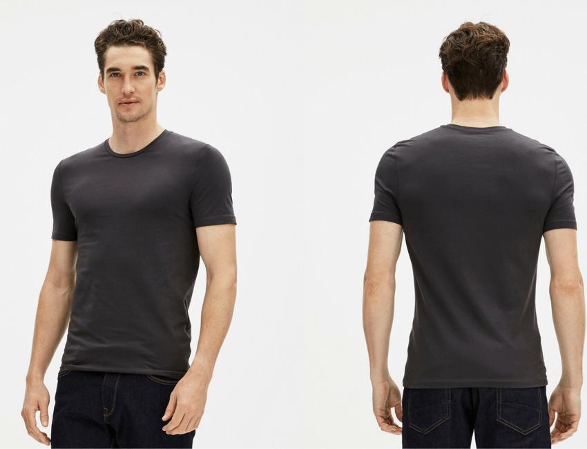 t-shirt basique gris Celio