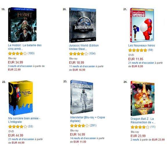 top vente dvd blu ray amazon 2015