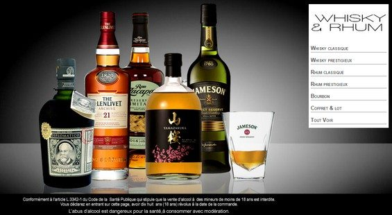 vente privee alcool whisky rhum bourbon bazarchic