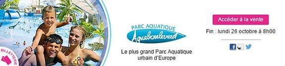 vente privee aquaboulevard le plus grand parc aquatique urbain d europe