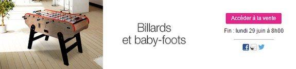 vente privee billard baby foot