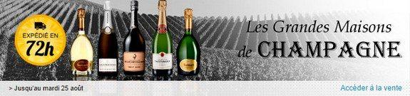vente privee bouteilles de champagne