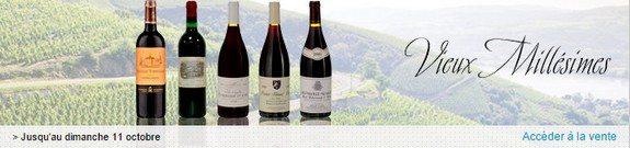 vente privee bouteilles de vin vieux millesimes