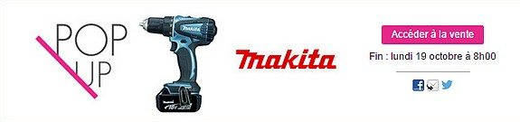 vente privee bricolage outils makita