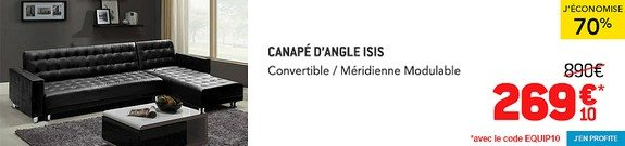 vente privee canape d angle convertible meridienne modulable