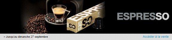 vente privee capsules cafe espresso compatibles nespresso