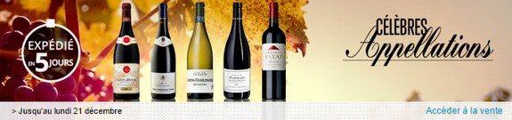 vente privee celebres appellations de vins