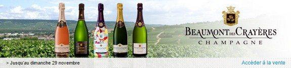vente privee champagne beaumont des crayeres
