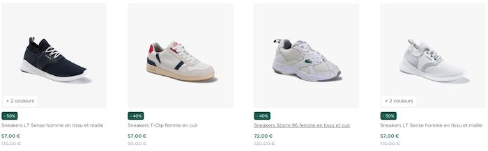 vente privee chaussures lacoste