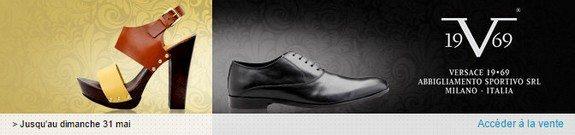 vente privee chaussures versace homme femme