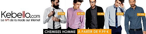 vente privee chemises homme pas cheres