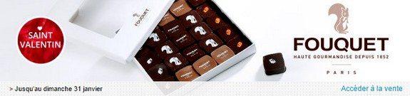 vente privee chocolats fouquet gourmandises saint valentin