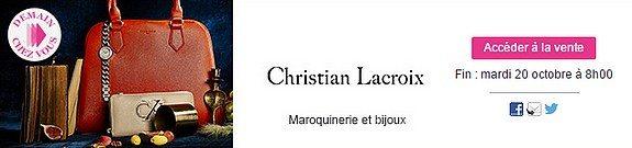 vente privee christian lacroix maroquinerie et bijoux