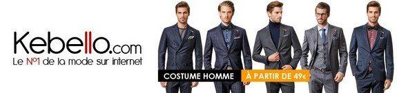 vente privee costumes homme pas chers