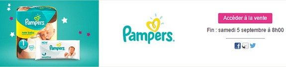 vente privee couches lingettes pampers