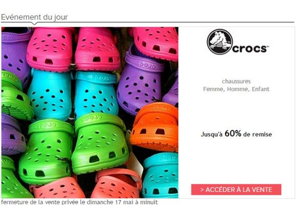 Vente Privée Crocs