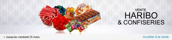 vente privee de bonbons haribo et confiseries