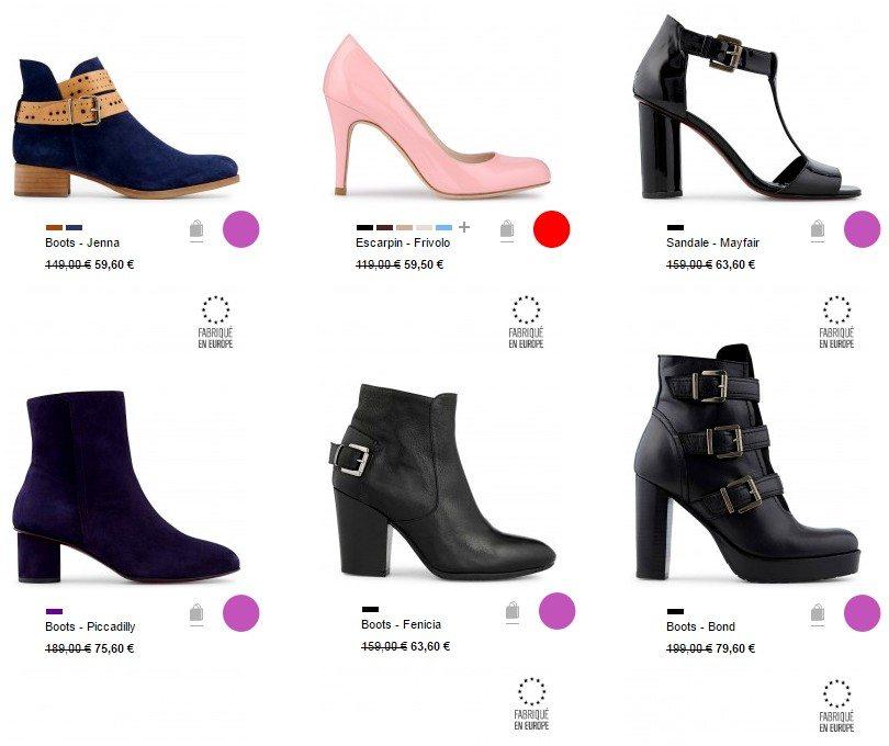 vente privee de chaussures femme minelli