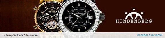 vente privee de montres hindenberg