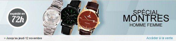 vente privee de montres pour hommes et femmes