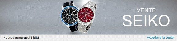vente privee de montres seiko
