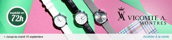 vente privee de montres vicomte a