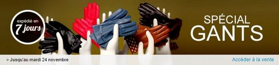 vente privee de paires de gants homme femme