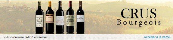 vente privee de vins crus bourgeois