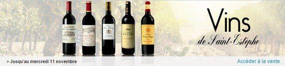 vente privee de vins de saint estephe