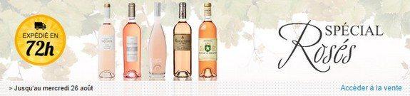 vente privee de vins roses