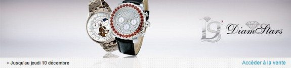 vente privee diamstars montres