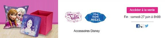 vente privee disney violetta reine des neiges