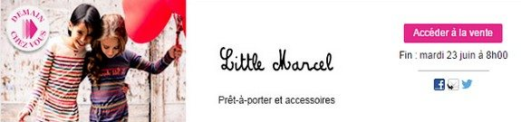 vente privee enfant little marcel
