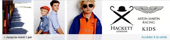 vente privee enfants kids hackett london aston martin racing