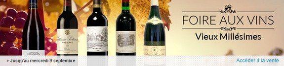 vente privee foire aux vins vieux millesimes