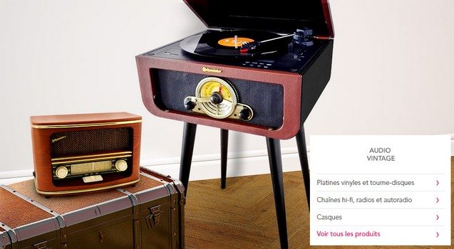 vente privee high tech son audio vintage platine vinyles showroomprive