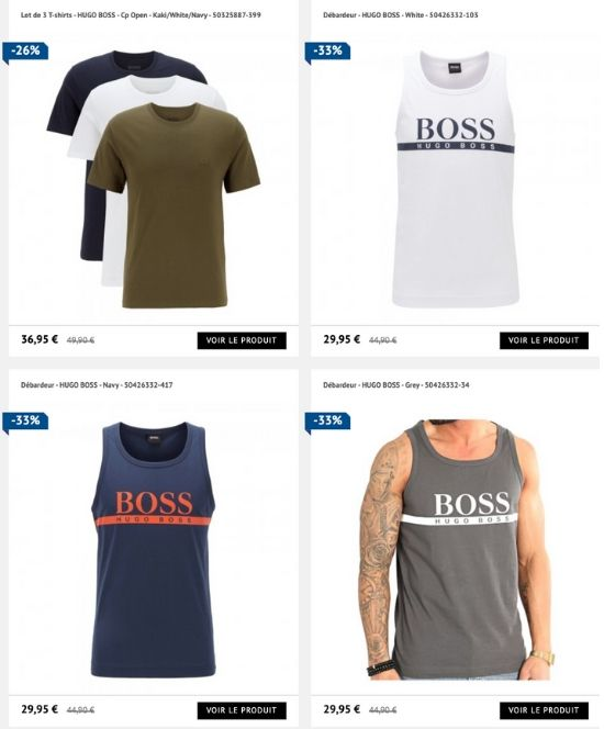 vente privee hugo boss t-shirt debardeur homme prive