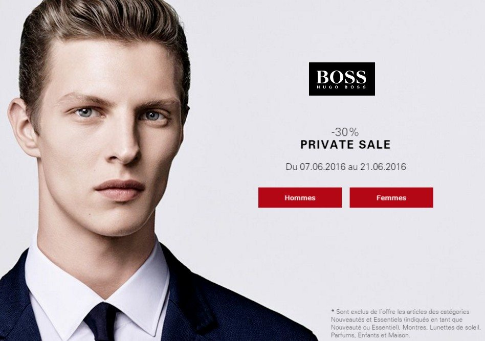 vente privee hugo boss