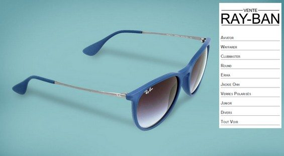 vente privee lunettes rayban chez bazarchic