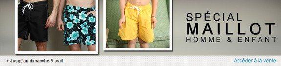 vente privee maillot de bain homme enfant